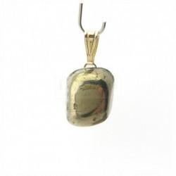 Pendentif pyrite polie