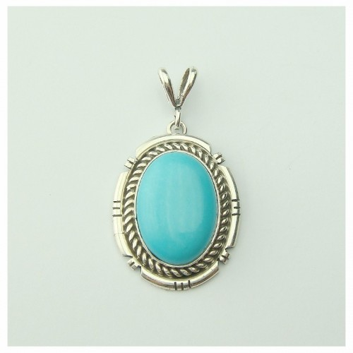 Pendentif turquoise, sterling silver