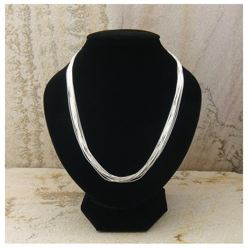 "Collier ""liquid silver"" 10 rangs"