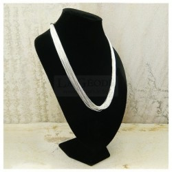 "Collier ""liquid silver"" 20 rangs"