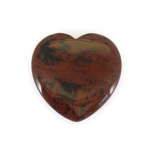 Coeur en obsidienne brune