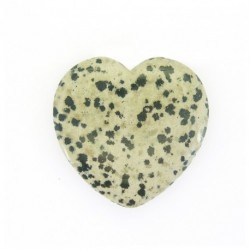 Coeur en jaspe dalmatien