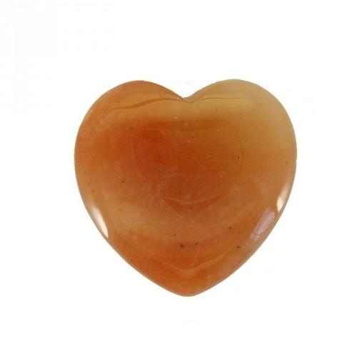 Coeur en aventurine rouge