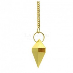 Pendule double pyramide métal 3