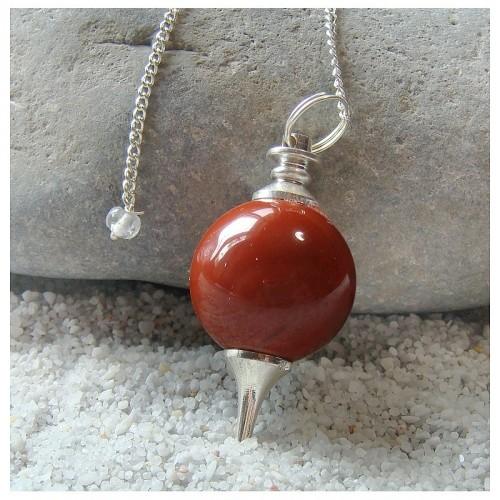 Pendule sephoroton en jaspe rouge