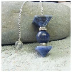 Pendule 2 pyramides lapis lazuli et sodalite 2