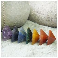 Pendule pyramide 7 chakras 3