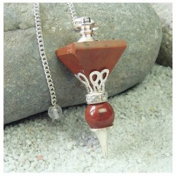 Pendule 1 pyramide jaspe rouge 6