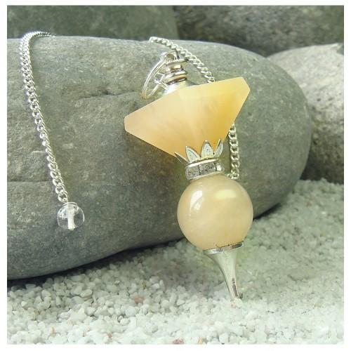 Pendule 1 pyramide quartz jaune 7