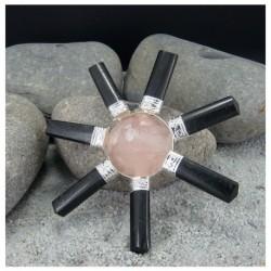 générateur d'énergie tourmaline noire et quartz rose
