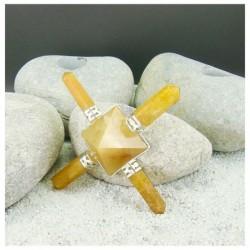 générateur d'énergie quartz jaune