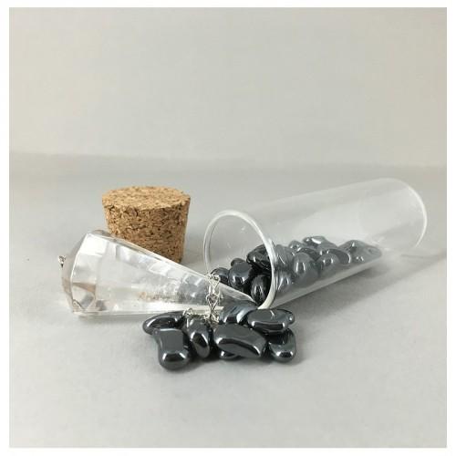 Flacon déchargeur de pendule avec pendule cristal de roche