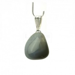 Pendentif agate grise