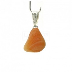 Pendentif agate abricot